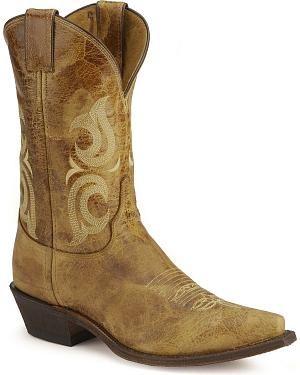 Justin Bent Rail Cowboy Boots - Pointed Toe