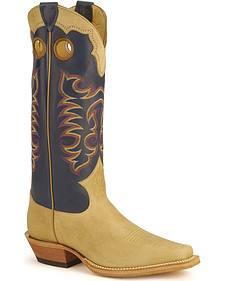 Justin Bent Rail Apache Buckaroo Cowboy Boots - Square Toe