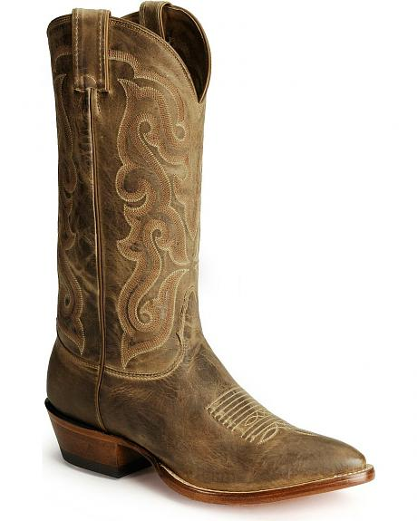 Nocona Distressed Calf Cowboy Boots - Pointed Toe