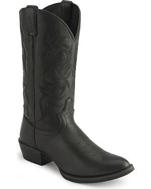 Justin Stampede Western Cowboy Boots - Medium Toe