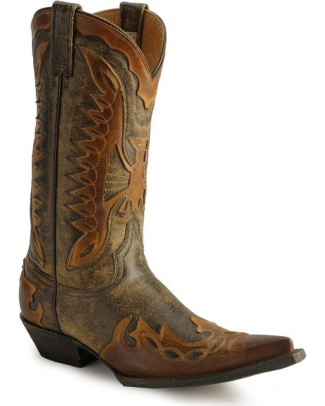 Stetson Vintage Eagle Cowboy Boots