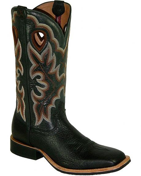 Twisted X Men's Ruff Stock Shoulder Cowboy Boots - Square Toe
