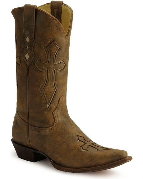Corral Spanish Cross Western Boots - Medium Toe