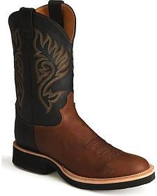 Justin Tekno Crepe Cowboy Boots - Round Toe