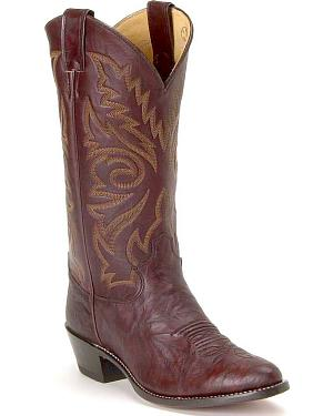 Justin Marbled Deerlite Cowboy Boots - Medium Toe