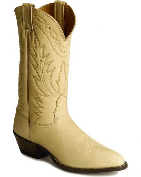 Nocona Deertan Leather Cowboy Boots - Medium Toe