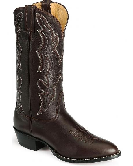 Nocona Lux Leather Cowboy Boots - Medium Toe
