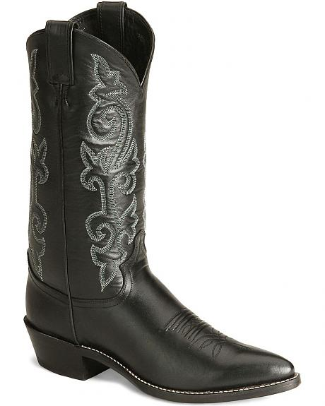 Justin London Calfskin Cowboy Boots - Pointed Toe