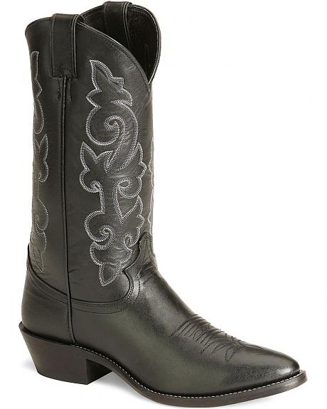 Justin London Calfskin Cowboy Boots - Medium Toe