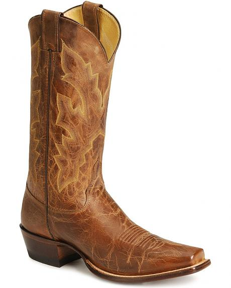 Justin Distressed Cowboy Boots - Square Toe