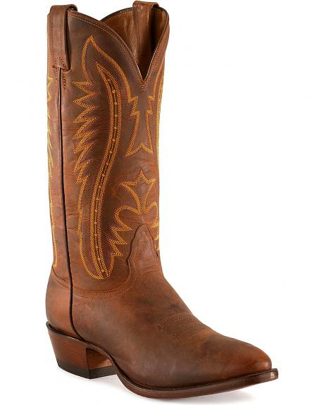 Nocona Distressed Leather Cowboy Boots