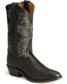 Tony Lama Stallion Leather Americana Cowboy Boots - Medium Toe