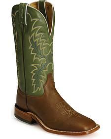 Tony Lama Tan Cheyenne Americana Cowboy Boots