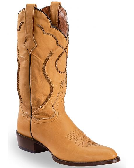Dan Post Saddle Brand Leather Corded Western Boots