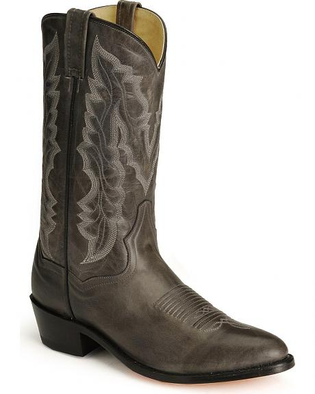 Dan Post Charcoal Crazy Cow Leather Western Boots