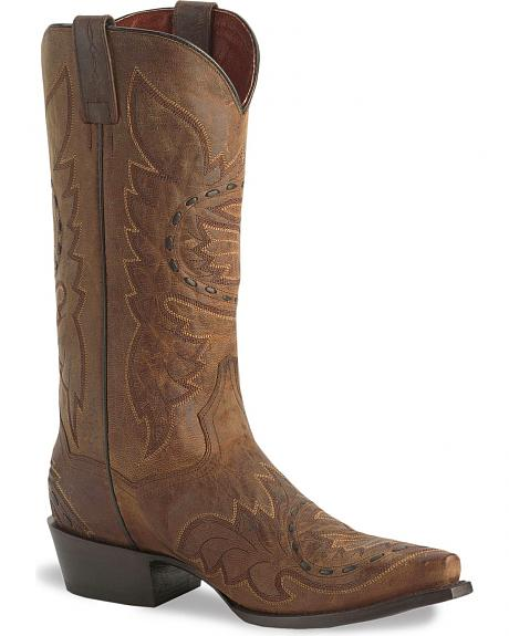 Dan Post Side Winder Distressed Cowboy Boots