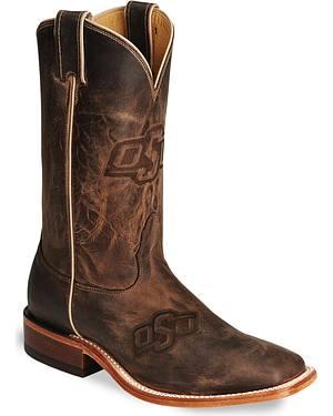 Nocona Oklahoma State College Boots - Square Toe