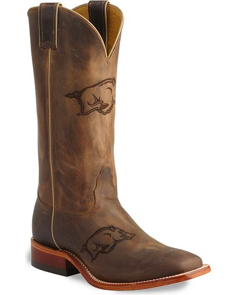 Nocona Arkansas Razorbacks College Boots - Square Toe