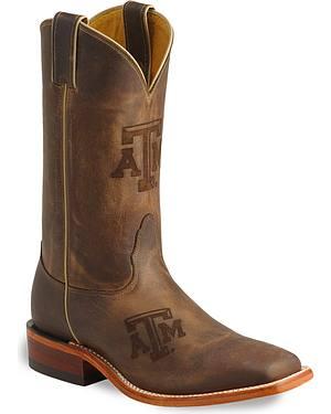 Nocona Texas A&M Aggies College Boots - Square Toe