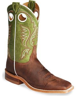 Justin Bent Rail Cognac Cowboy Boots - Square Toe