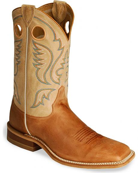 Justin Bent Rail Burnt Orange Cowboy Boots - Square Toe