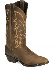 Justin Bay Apache Basic Western Cowboy Boots - Medium Toe