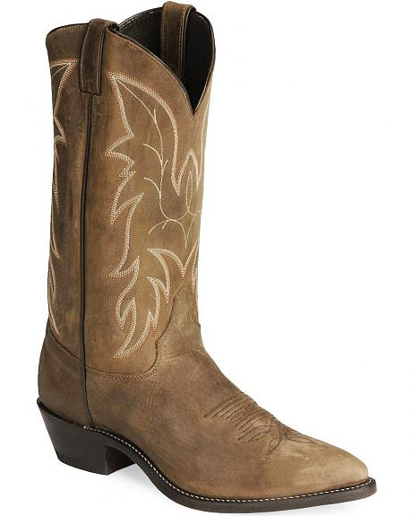 Justin Bay Apache Basic Western Boots - Pointed Toe