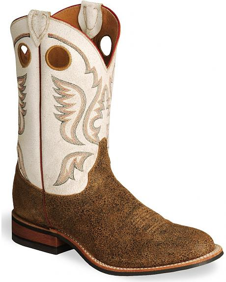 Justin Bent Rail Distressed Cowboy Boots - Round Toe