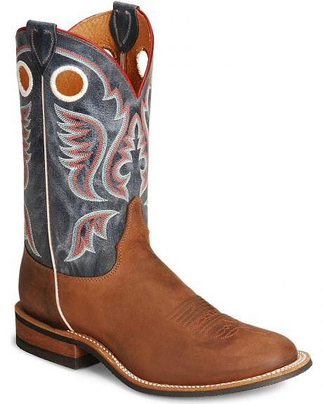 Justin Bent Rail Brown Cowboy Boots - Round Toe