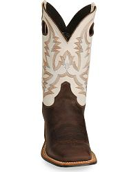 Justin Bent Rail Cowboy Boots - Wide Square Toe at Sheplers