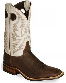 Justin Bent Rail Cowboy Boots - Wide Square Toe
