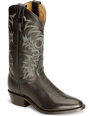 Tony Lama Black Stallion Americana Cowboy Boots - Medium Toe