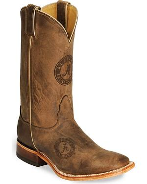 Nocona Alabama Crimson Tide College Boots - Square Toe