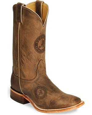 Nocona Alabama Crimson Tide College Boots - Square Toe