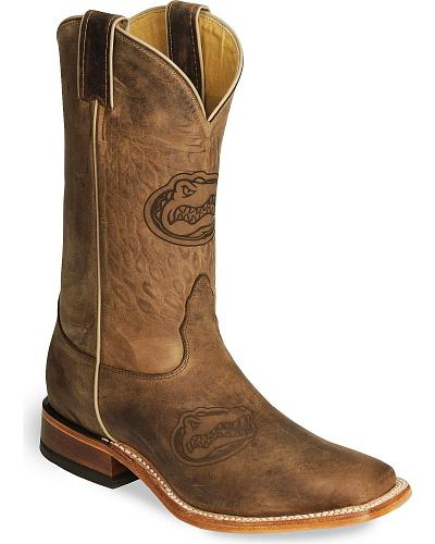 Nocona Florida Gators College Boots - Sq Toe