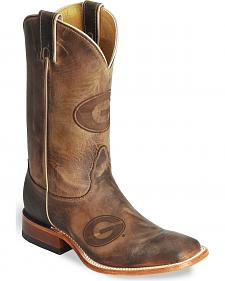 Nocona Georgia Bulldogs College Boots - Sq Toe