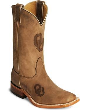 Nocona Oklahoma Sooners College Boots - Sq Toe