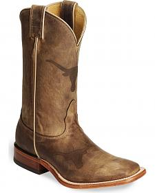 Nocona Texas Longhorns College Boots - Sq Toe
