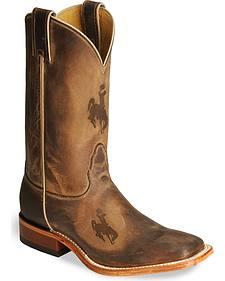 Nocona Wyoming Cowboys College Boots - Sq Toe