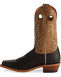 Justin Bent Rail Black Cowboy Boots - Square Toe at Sheplers