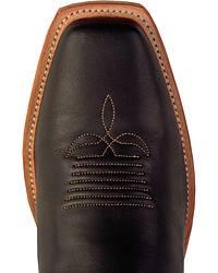 Justin Bent Rail Black Cowboy Boots - Square Toe at Sheplers