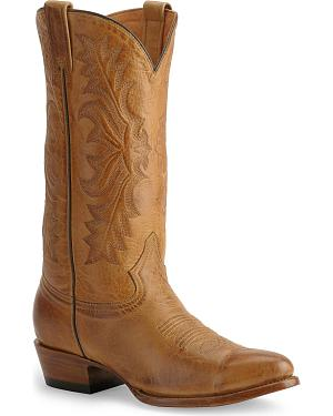 Stetson Hand-burnished Ficcini Cowboy Boots - Round Toe