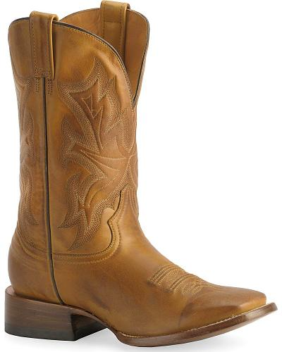 Stetson Hand-burnished Ficcini Cowboy Boots Wide Square Toe Western & Country 12-020-8801-0226
