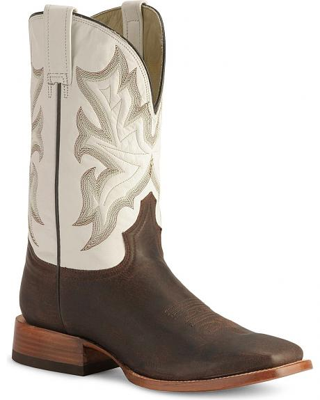 Stetson Chocolate Cowboy Boots - Wide Square Toe