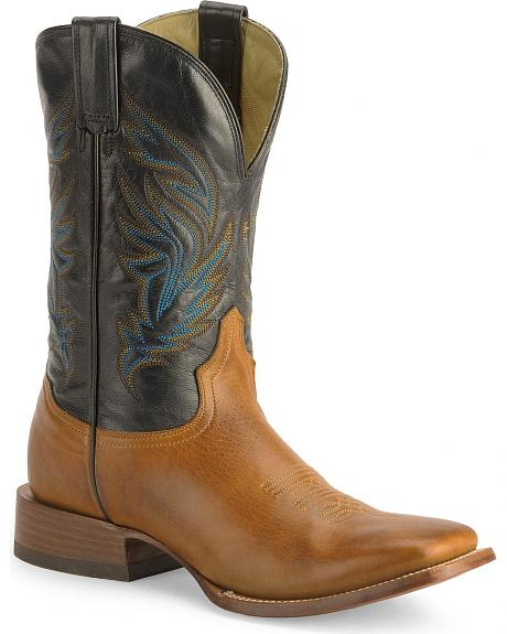 Stetson Tan Cowboy Boots - Wide Square Toe