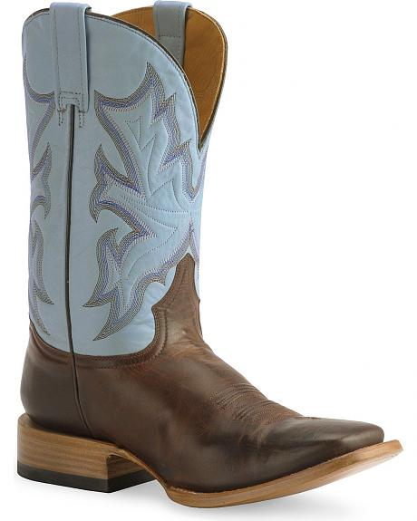 Stetson Brown Cowboy Boot - Wide Square Toe