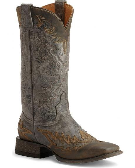 Stetson Sanded Crazy Horse Cowboy Boots - Wide Square Toe
