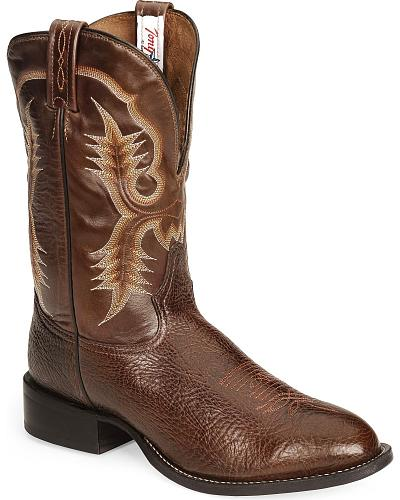 Tony Lama Chocolate Stockman Cowboy Boots Round Toe Western & Country CT2032