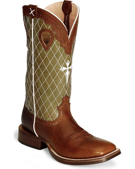 Twisted X Peanut Ruff Stock Cowboy Boot - Wide Square Toe