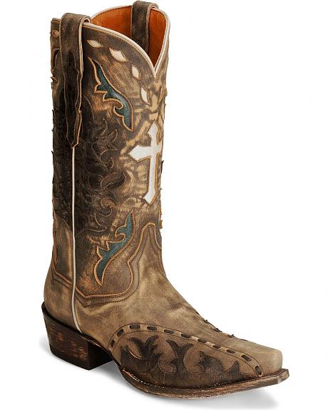 Dan Post Anthem Cross Distressed Cowboy Boots